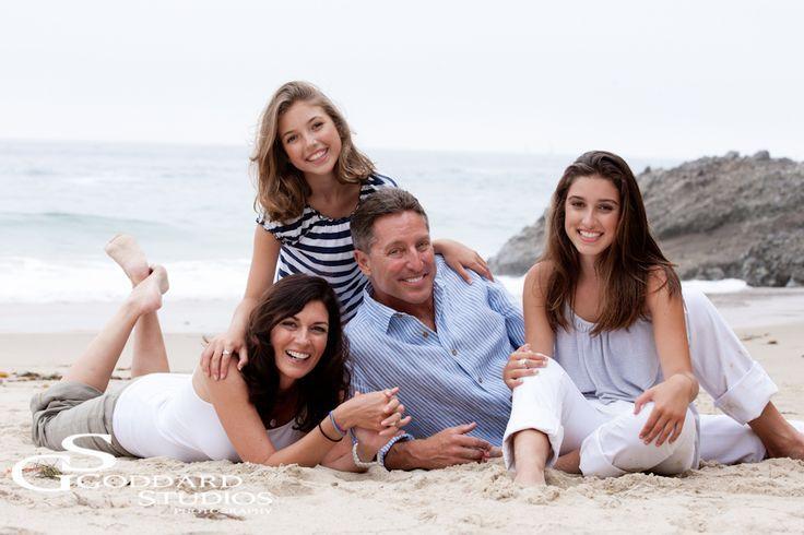 Casual Beach Family Portrait