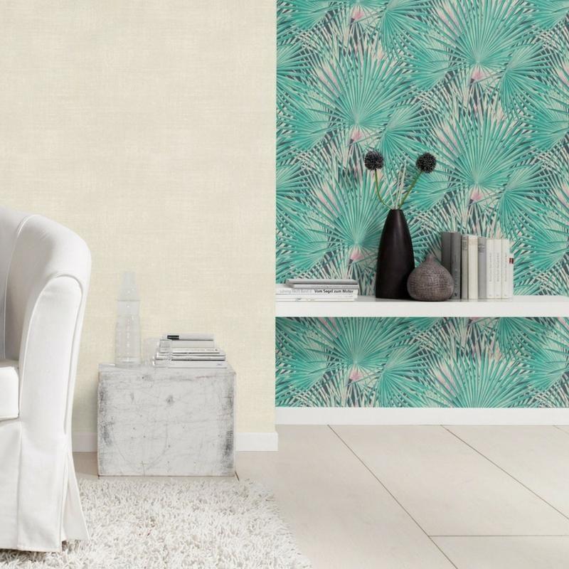 Papier peint intissé Palmiers vert de la collection Lucy in the sky