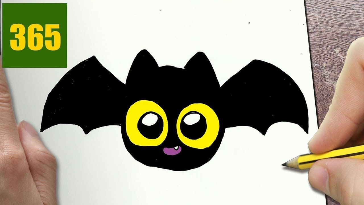How To Draw A Halloween Bat Cute Easy Step By Step Drawing