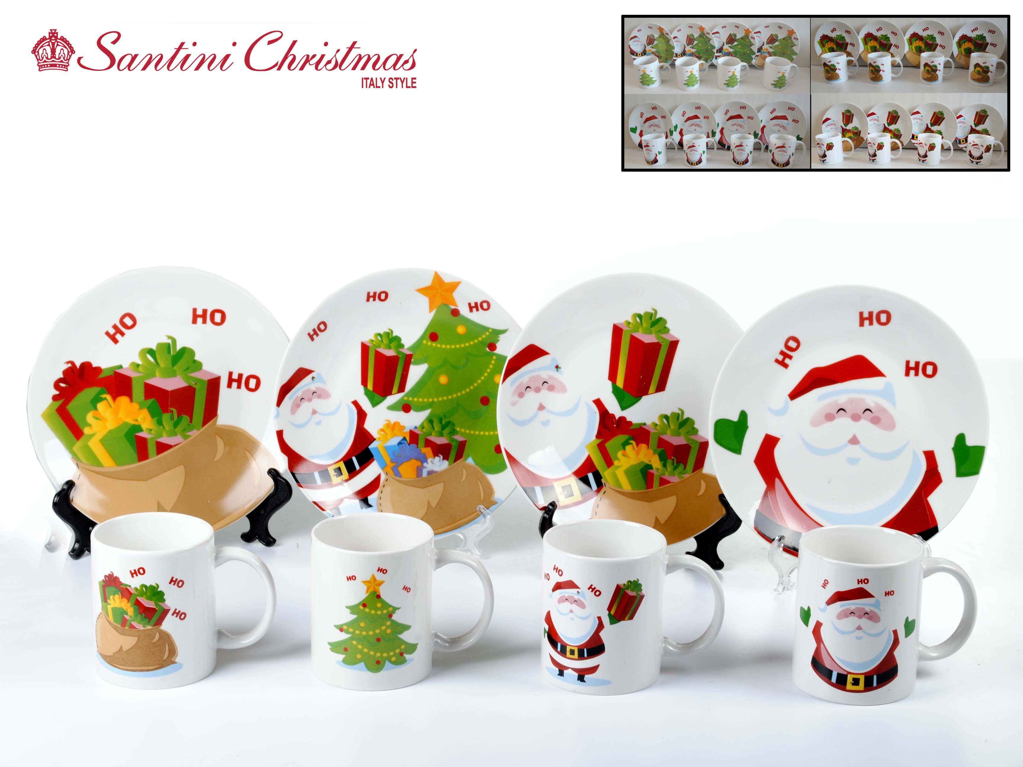 Set de platos y Mugs Ho Ho Ho! / Ho Ho Ho! Plate and