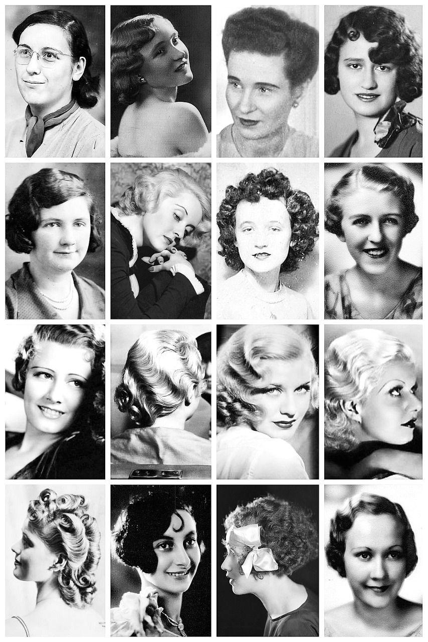 1930er Jahre Womens Frisuren 30er Frisuren Retro Haar Retro Frisuren