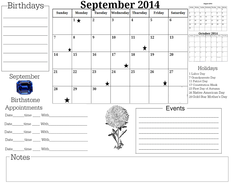 September calendar free download do it yourself today glendas world 2014 calendars solutioingenieria Images