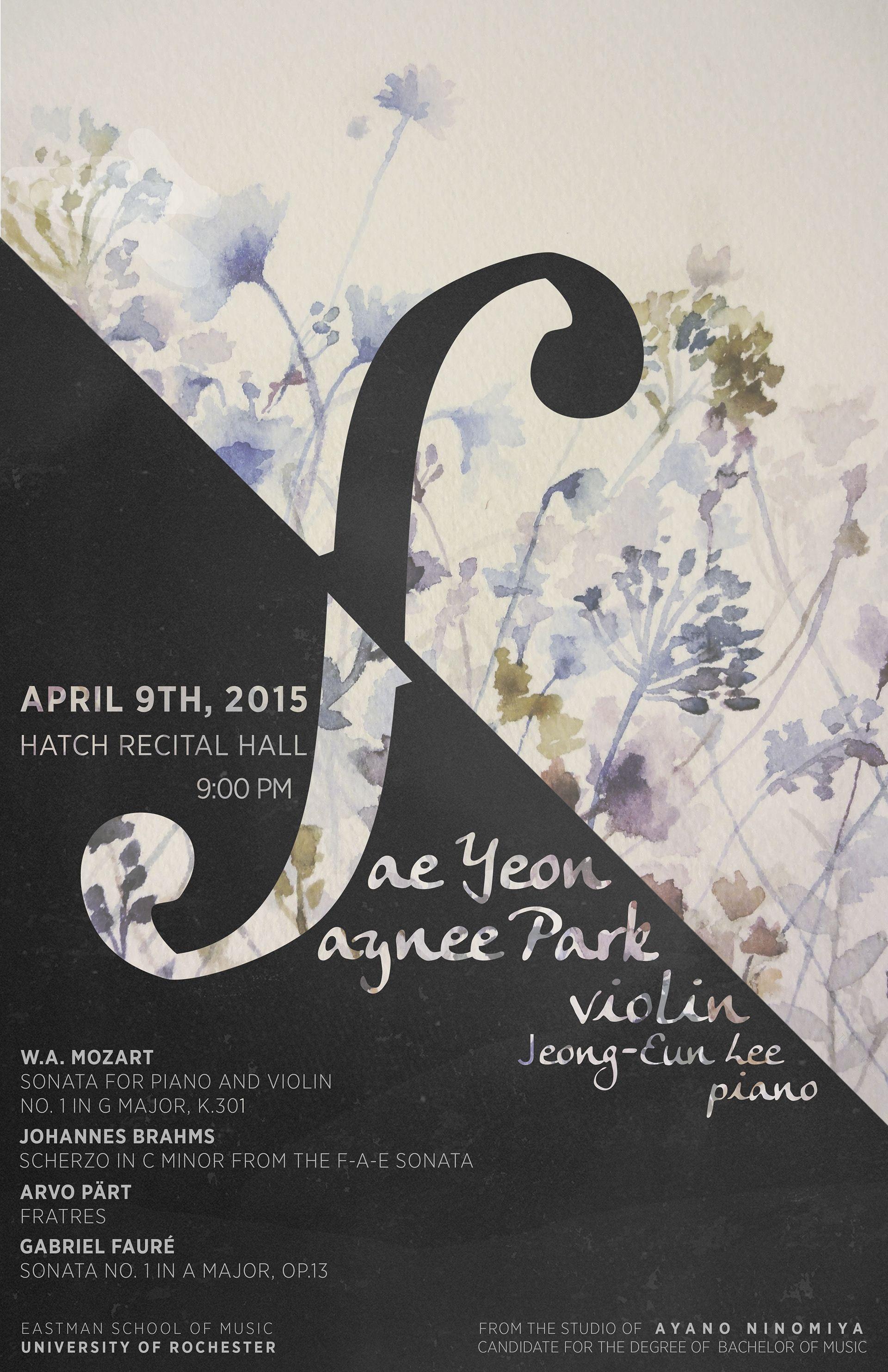 A Poster And Program Design For Violin Recital