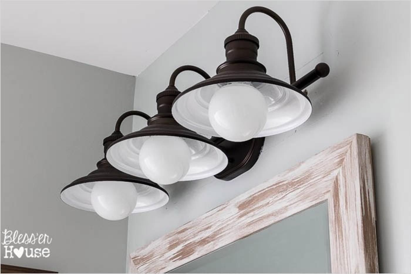 26 inexpensive farmhouse bathroom lighting ideas youll