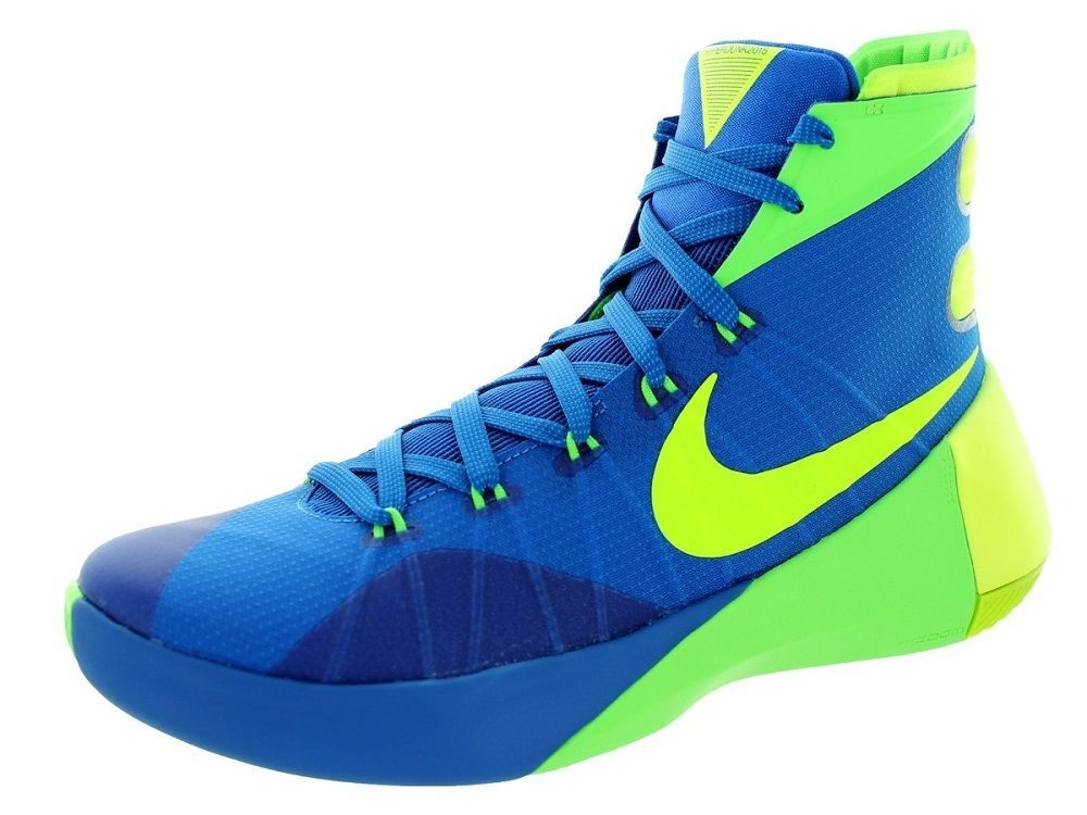 7e531aefbb3b Nike Men s Hyperdunk 2015 Basketball Shoes 749561 473 Soar Volt Green Size  10.5  NikeAir
