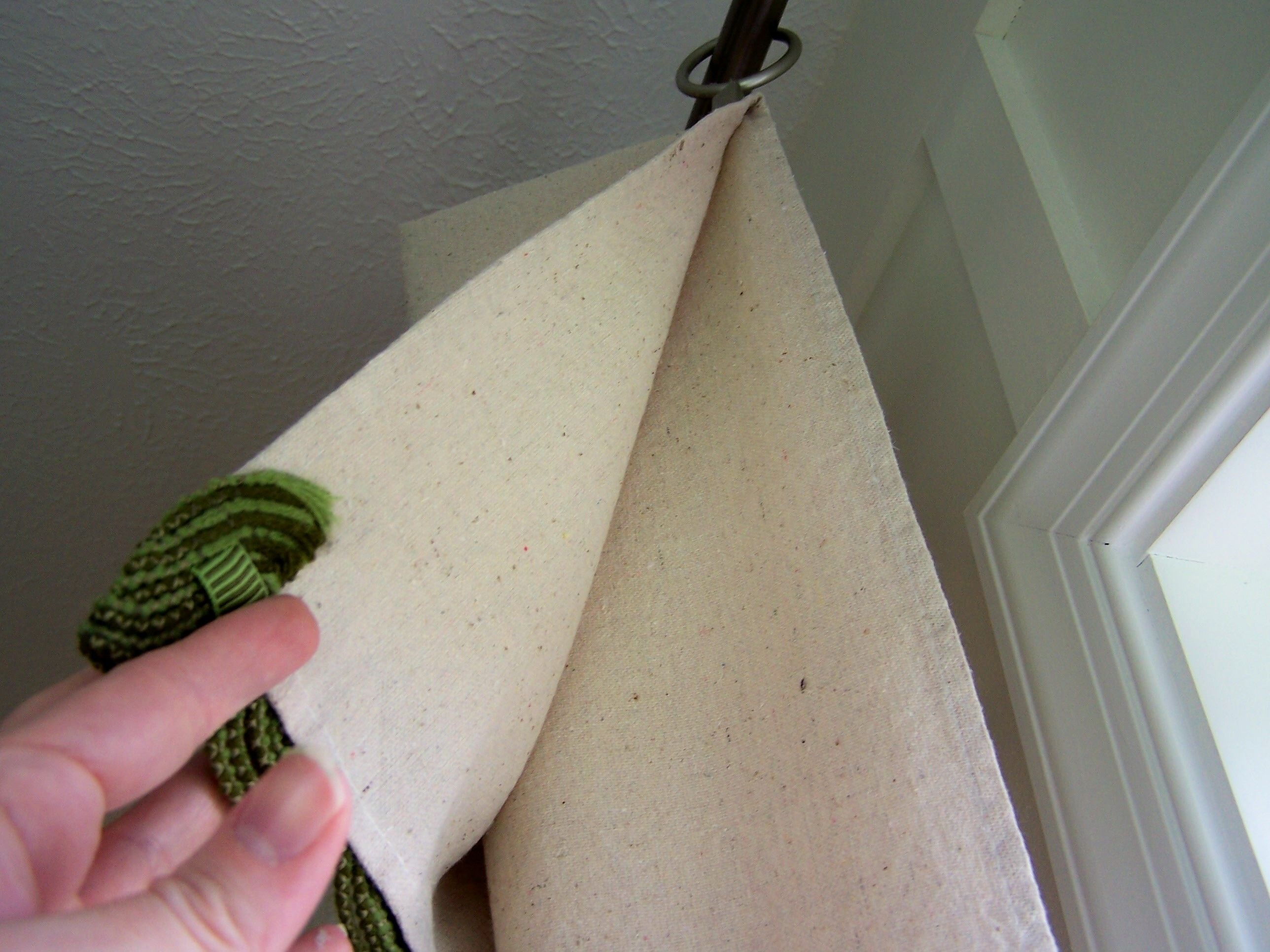 Image Detail For Diy Drop Cloth Curtains With A Twist