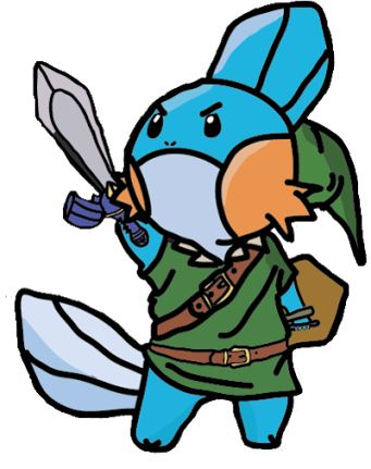 368a0333 So cute! mudkip dressed link(Pokemon+The legend of zelda) | the ...