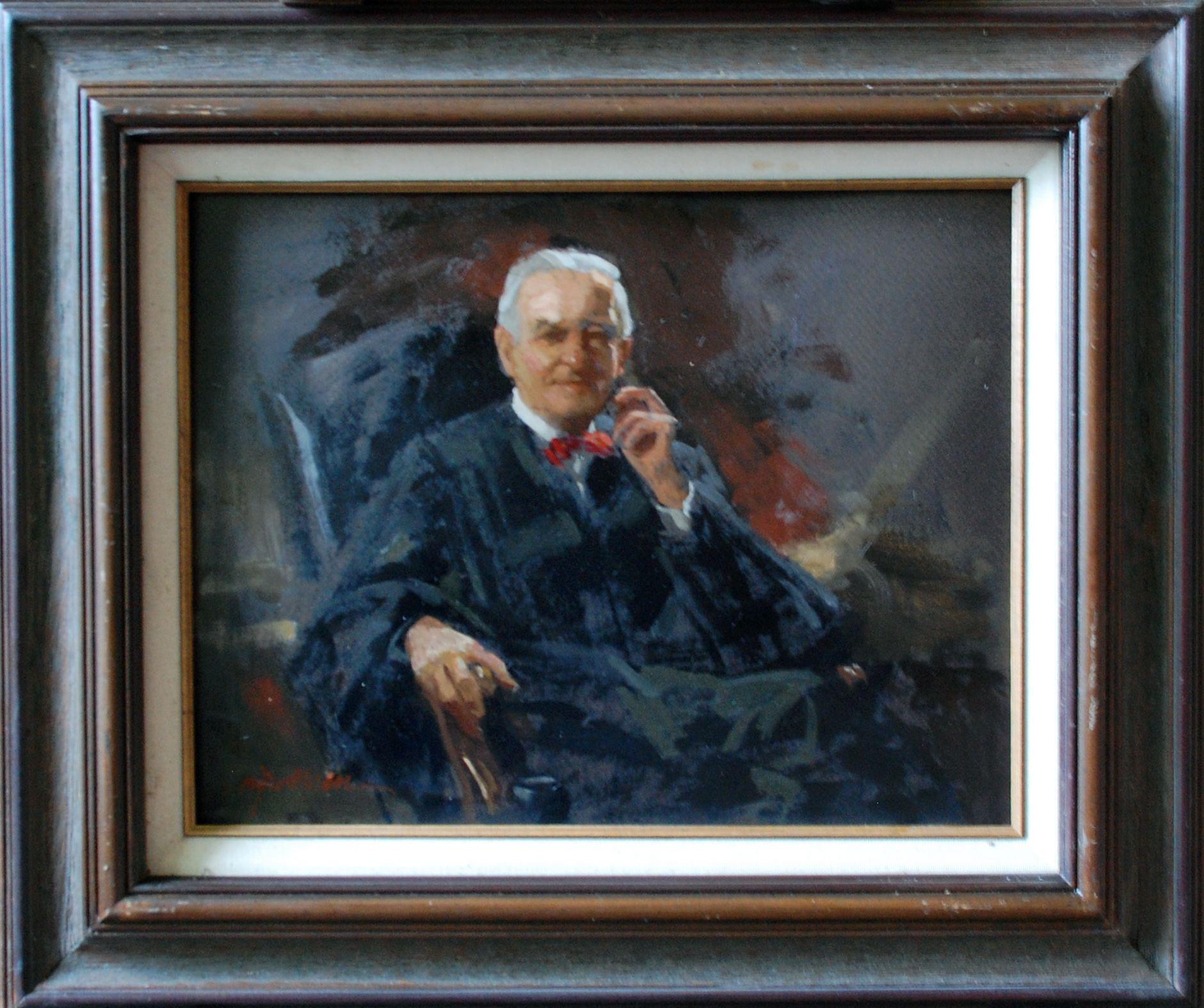 James J Ingwersen Study In Oil Justice John Paul Stevens Painting Art Artist Studio