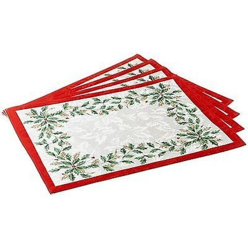 Lenox Golden Holly 13inch By 19inch Placemat Set Of 4 Click On The Image For Additional Details This Is An Affiliate L Christmas Placemats Placemats Lenox