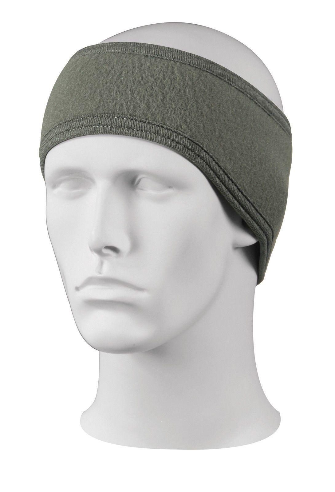 Heavyweight Fleece 2 Ply Headband Ear Warmer Black 6e683a585c3