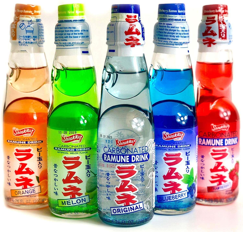 Ramune Japanese Soda Variety Pack Shirakiku Multiple Flavors Japanese Drink Gift Box 5 Count Japanese Drinks Drink Gift Drinks
