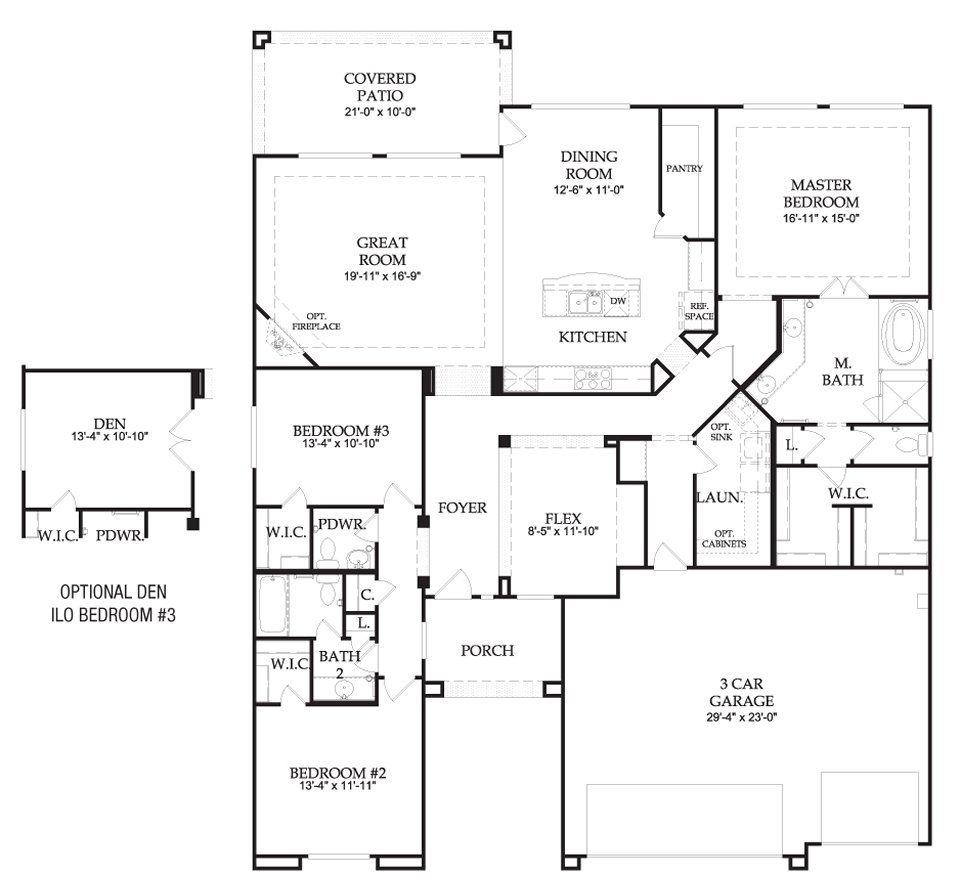 Great Floor Plan Pulte Homes New Home Builders Pulte