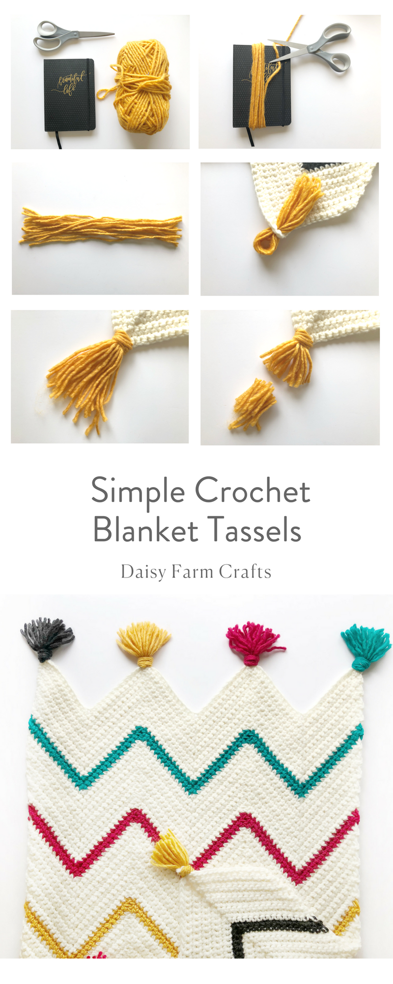 Free Pattern - Simple Crochet Blanket Tassels | Sewing | Pinterest ...