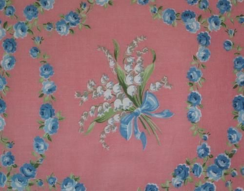 Sweet vintage fabric - lily of the valley