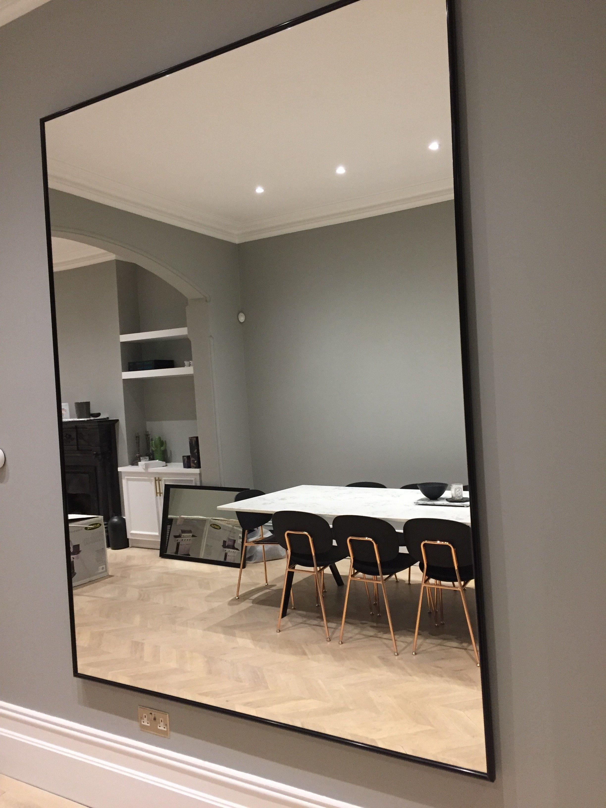 A Bespoke Black Framed Mirror Installed At A Customers Property Kvartira Interer Prostranstva