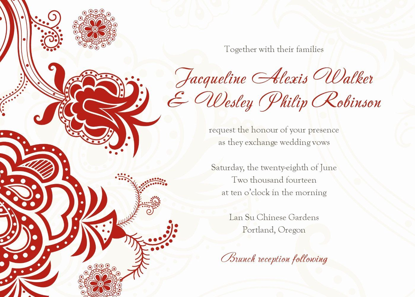 Chinese Wedding Invitation Wordings Awesome Chinese Wedding Wedding Invitations Printable Templates Free Wedding Invitation Templates Free Wedding Invitations