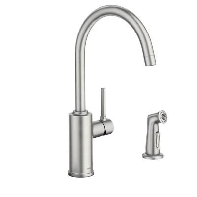 Moen Sombra Single Handle Standard Kitchen Faucet With Side