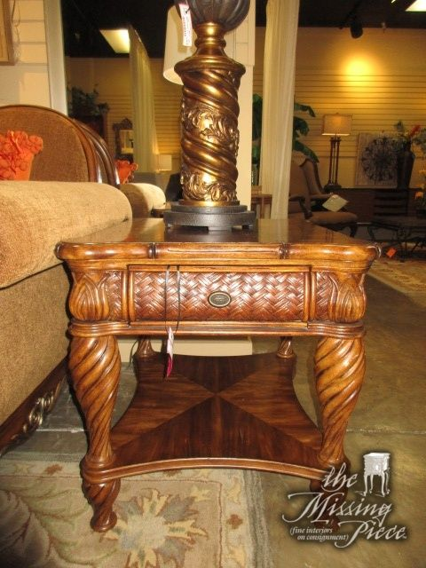 Amazing Schnadig End Table In A Medium Finish. There Is One Drawer And One Shelf  Below