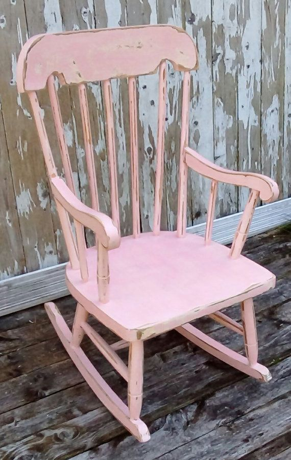 pink toddler rocking chair wooden folding chairs target child s by savannahscottage baby