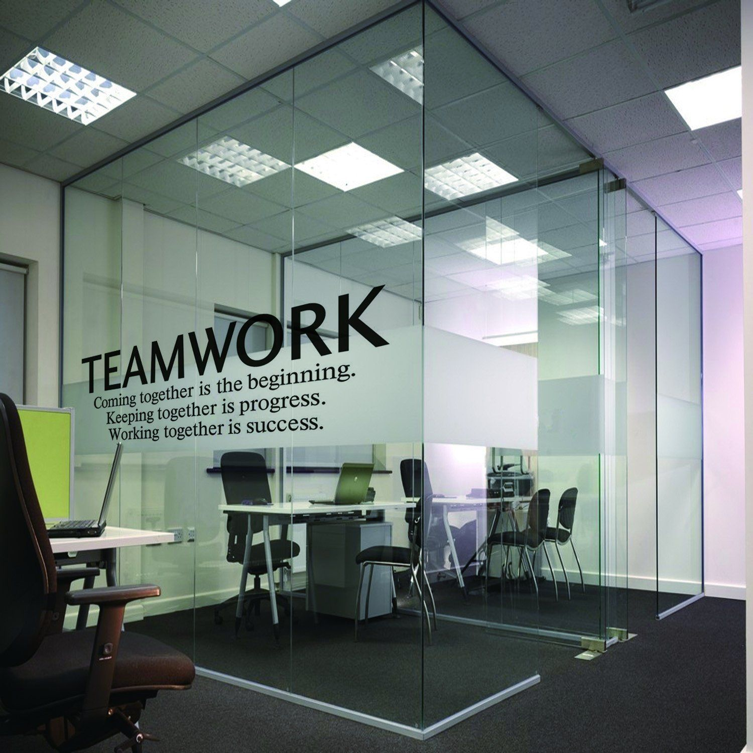 Amazon.com: N.SunForest Quotes Wall Decal Teamwork Definition Office ...