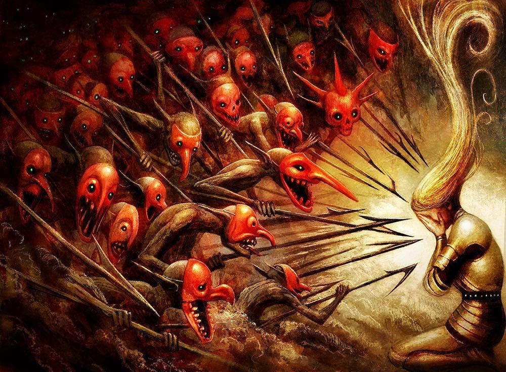 New Art Revealed Again For Wizards Magic S Ravnicaallegiance This One Is Called Bedevil Art Director Andrew Vallas Mtgcomm Mtg Art Art Magic Art
