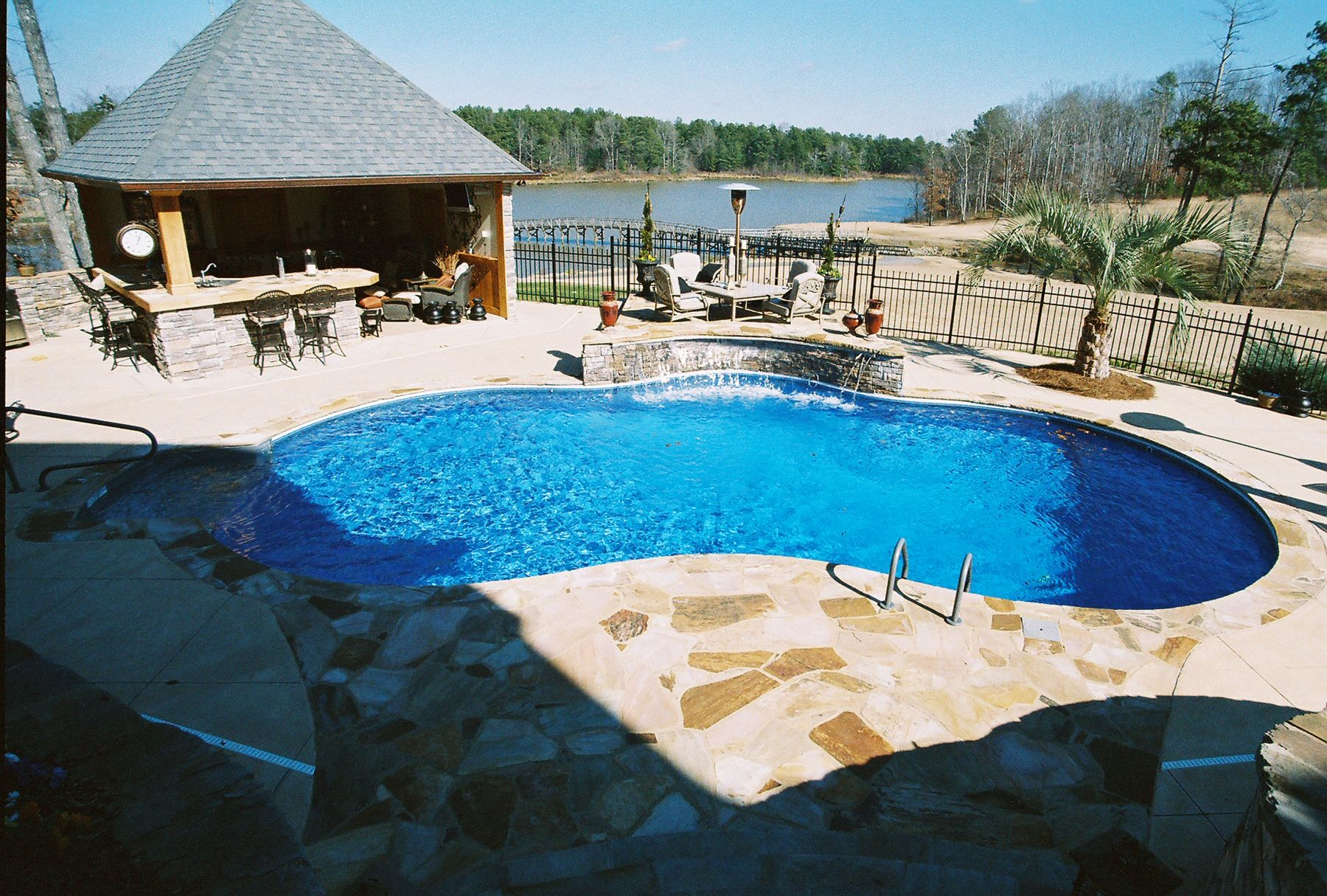 Brown\'s Pools & Spas Gunite Pool with Cabana and Outdoor Kitchen WWW ...