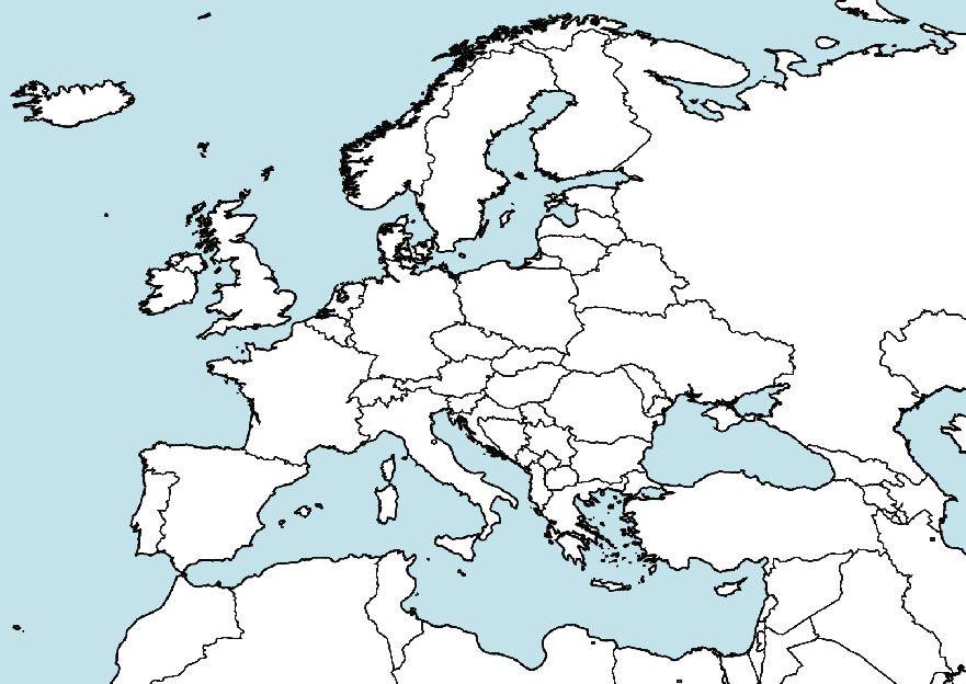 Cartina Muta Del Mediterraneo.Cartina Europa Da Colorare Con Nomi Immagini Colorare