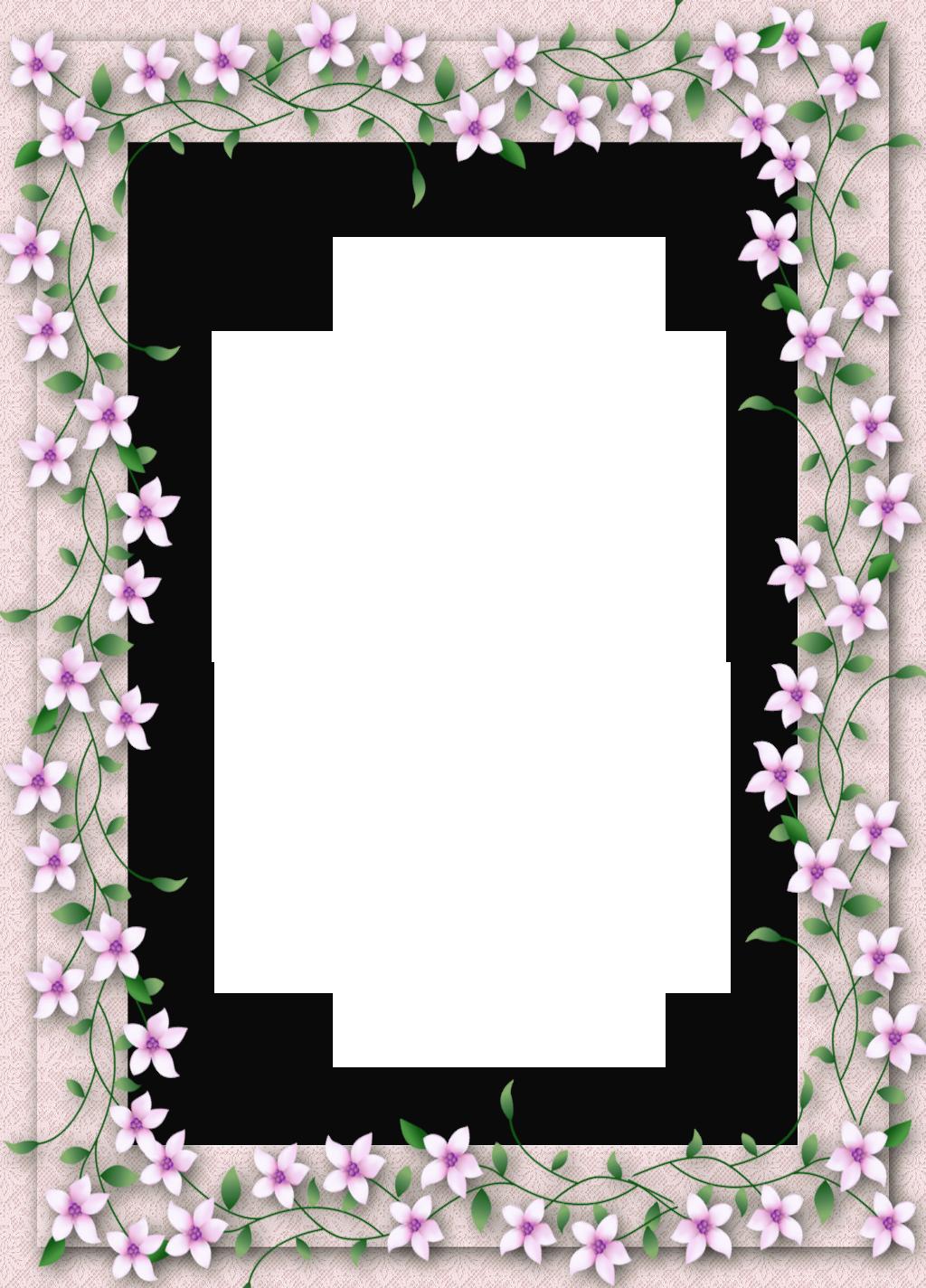 Delicate PNG Transparent Flower Frame Ramki, Ramka, Kwiaty