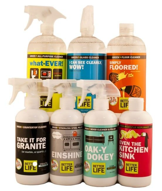 Ready to take the plunge into all natural cleaning products?  Get everything you need with the Better Life Home Cleaners Starter Kit for under $50!