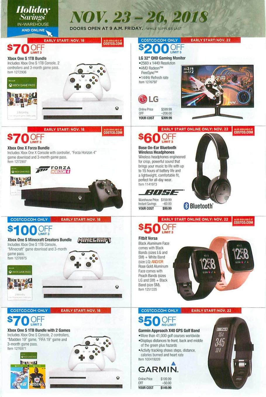 Costco Black Friday 2018 Ads And Deals Black Friday Ads Black