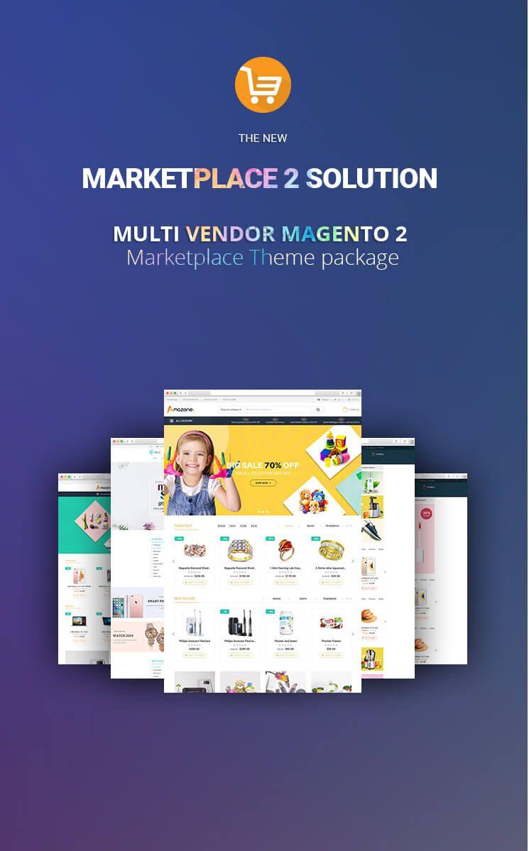 Multistore Marketplace Magento 2 Theme Integrated Multi