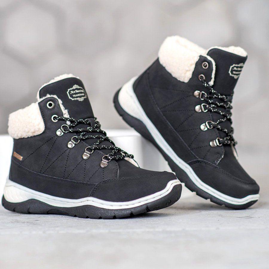 Arrigo Bello Cieple Buty Zimowe Czarne High Top Sneakers Shoes Sneakers