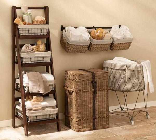 Der Richtige Waschekorb In Der Waschkuche Clevere Einrichtungsideen Aufbewahrung Fur Kleines Badezimmer Kleine Badezimmer Korbe An Wand