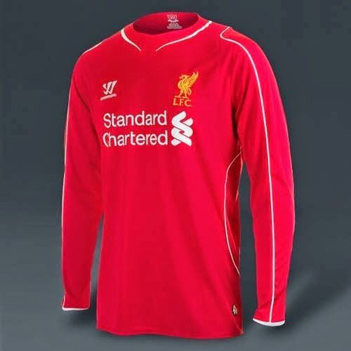 Warrior released 14/15 Liverpool home and away kit