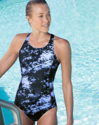 Share us with your friends! Champion PerforMax® High Neck Print One Piece Swimsuit | OneWorld