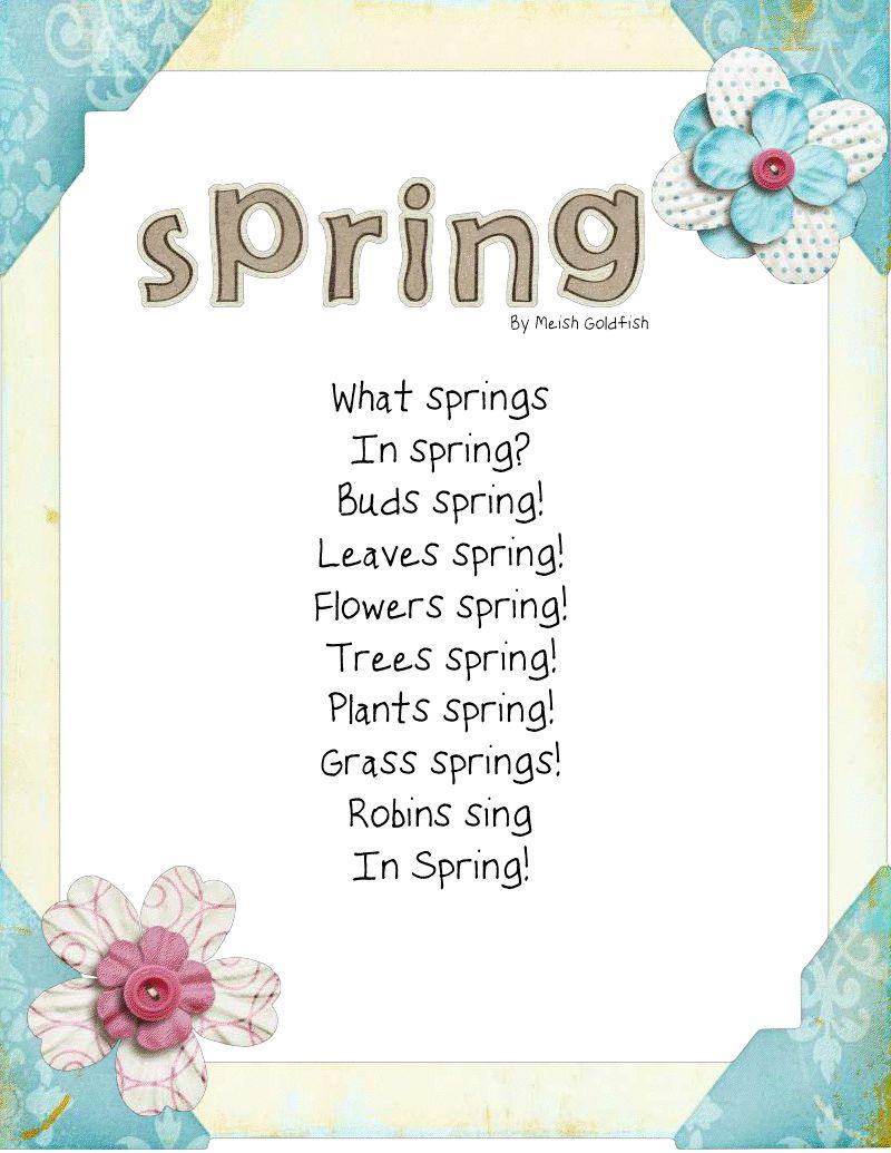 'What SPRINGS in spring? Buds spring! Leaves spring ...