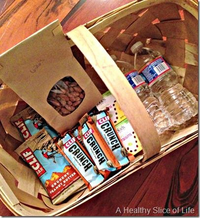Snack basket.  Good idea since Randy gets home and would always appreciate a little something until dinner!