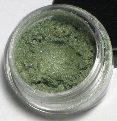Ain't Misbehavin' - An apple green mineral eye shadow with a gold shimmer by Sweet Libertine Mineral Cosmetics