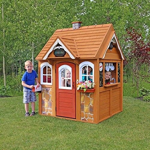 Fsc Certified Cedar Wood Outdoor Children S Playhouse With Many Extras Jet