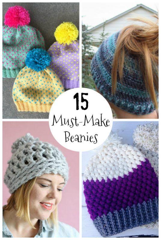 15 Must-Make Knit and Crochet Hat Patterns | Crochet Scarves ...