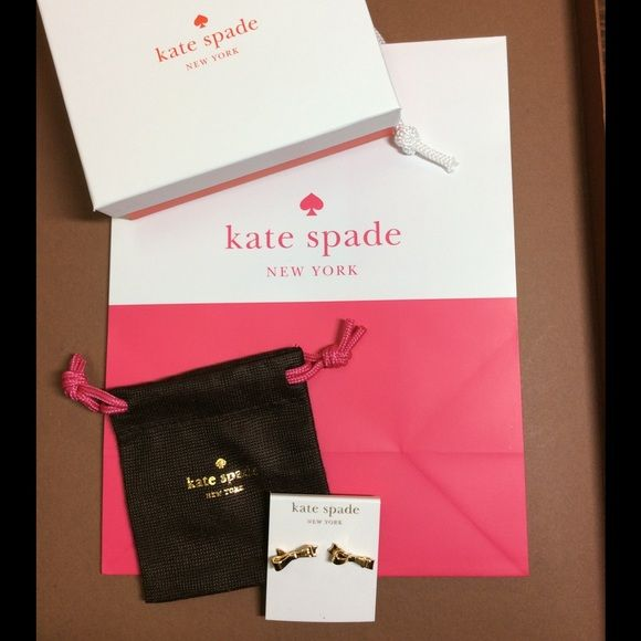 KATE SPADE EARRINGS! Brand New!  Kate Spade Brand New Earrings! Love Note BOWS! Kate Spade jewelry pouch, shopping bag, and box and included! Makes a perfect gift or treat yourself! kate spade Jewelry Earrings