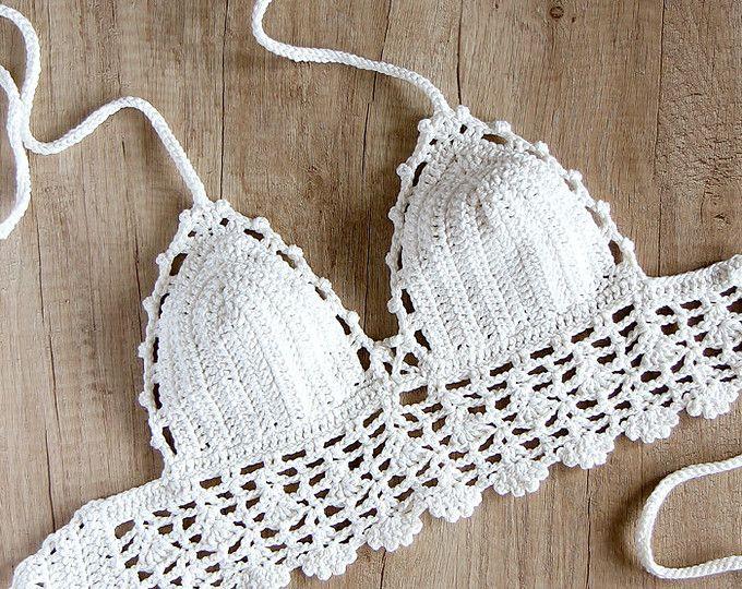 Granny square Crochet top/ Halter top/ Crochet Festival top/ Crop ...
