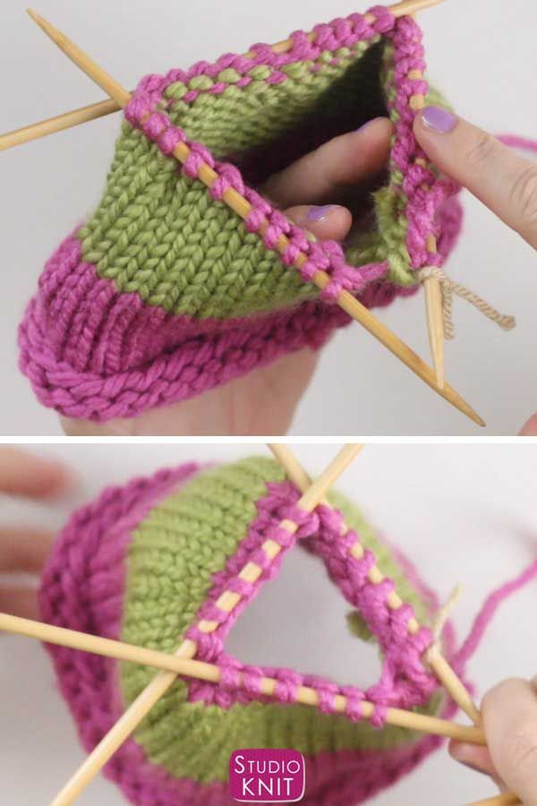 5 Steps to Switch to Double Pointed Knitting Needles | Studio Knit