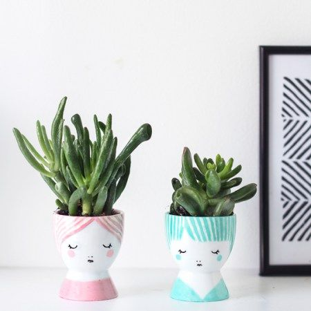 DIY Mini Face Planters