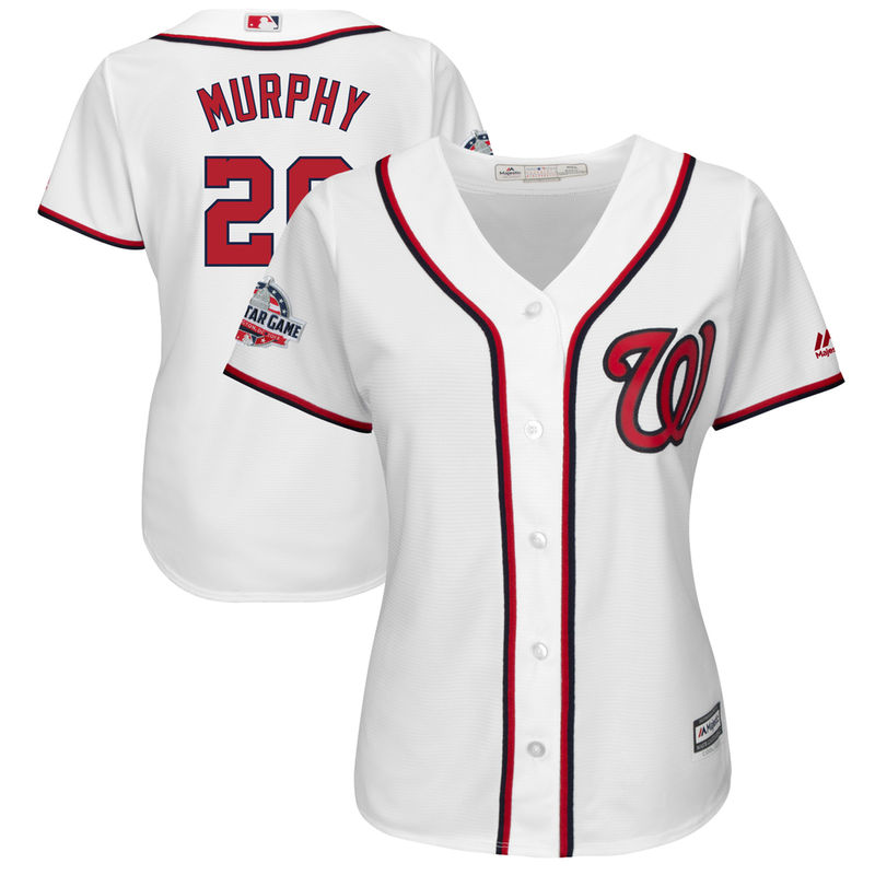 f3ea4d64 Daniel Murphy Washington Nationals Majestic Women's 2018 All-Star Game Home  Cool Base Player Jersey – White
