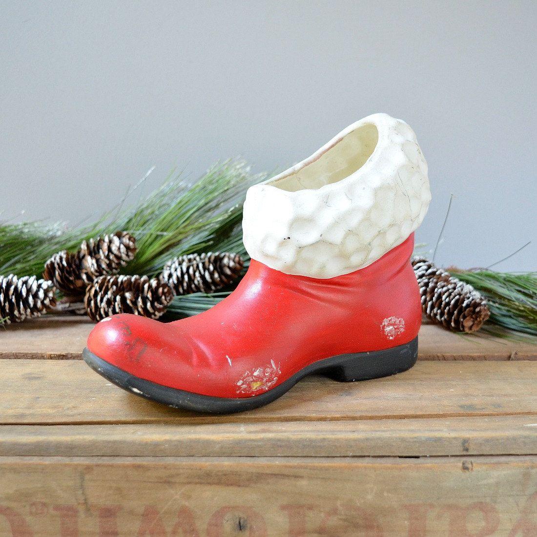 Vintage santa boot vintage ceramic santa boot santa boot vase vintage santa boot vintage ceramic santa boot santa boot vase santa boot planter reviewsmspy