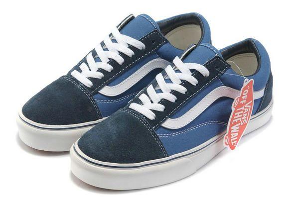c067bb03518a Vans Old Skool Suede Gray Blue White Skate Low Top Shoes  309  -  39.99    Vans Shop