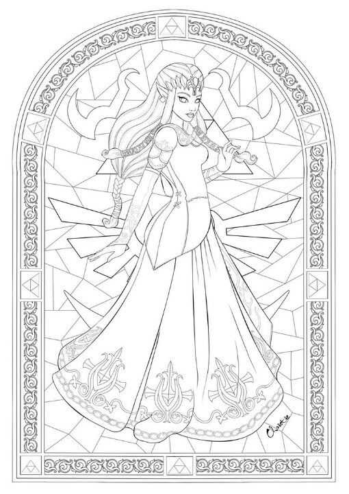 Zelda coloring page! | Coloring pages | Pinterest | Colorear, Dibujo ...