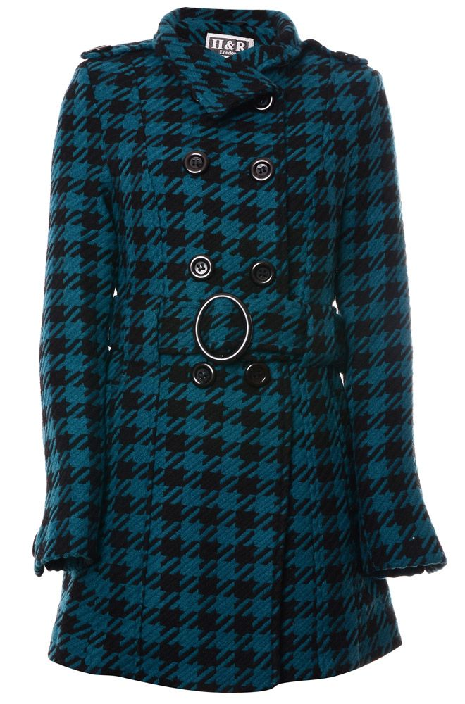 Hearts & Roses Dogtooth Women's Coat