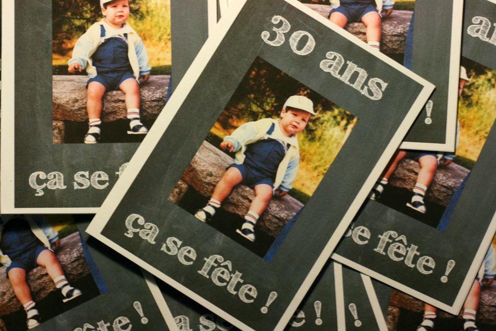 carte invitation anniversaire : carte invitation anniversaire 30 ans - Inv… | Invitation ...